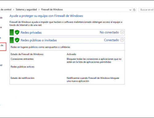 Desactivar firewall Windows 10
