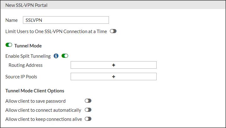 Portal de configuración de SSLVPN