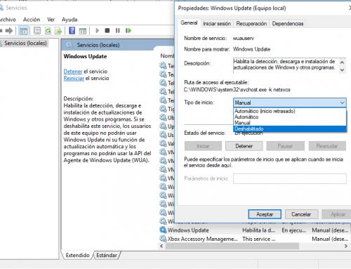 Deshabilitar actualizaciones en Windows 10 con 3 senzillos pasos